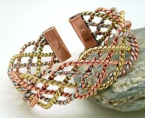 B6: Three Colour  Wide Lace Bracelet