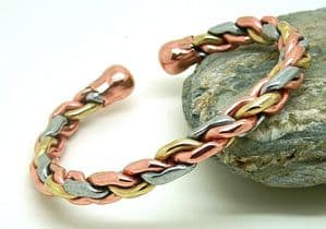 M36: Magnetic Three Colour Heavy Rope Bracelet