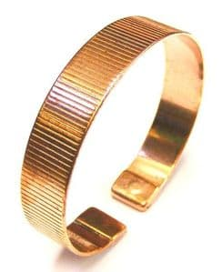 M88: Magnetic Patterned Copper Band Bracelet