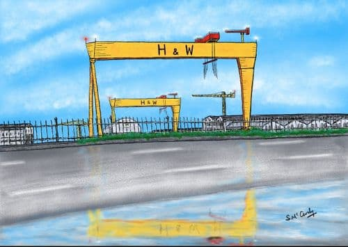 'Belfast Crane to Fame' by Stephen McCurdy Art