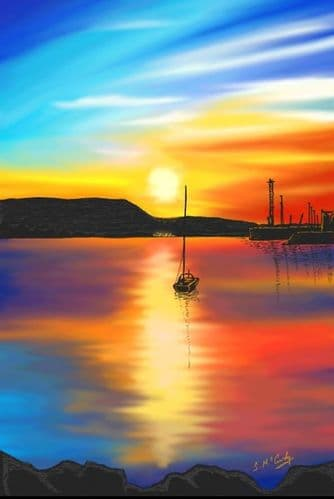 'Carlingford Lough Sunset' by Stephen McCurdy Art