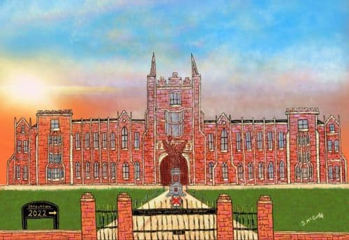 'The Sun Sets on Queen's'  by Stephen McCurdy Art