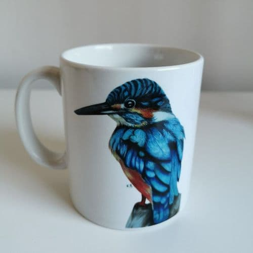Kevin the Kingfisher mug by KB Art Room
