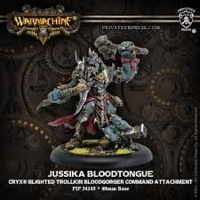 Jussika Bloodtongue  Cryx Character Bloodgorger Command Attachment (resin/metal)