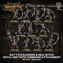 Satyxis Raiders & Sea Witch  Cryx Unit & Command Attachment (resin/metal)
