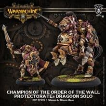 Champion of the Order of the Wall – Protectorate of Menoth Dragoon (resin/metal)