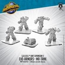 Exo-Armors & MR-Tank  Monsterpocalypse G.U.A.R.D. Units (metal/resin)