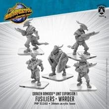 Fusiliers, Elite Fusilier, Warder  Monsterpocalypse Draken Armada Unit (metal/resin)