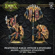 Skorne Praetorian Karax Commander and Standard RESIN (2)