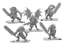 Slashers and Clicker  Monsterpocalypse Legion of Mutates Unit (metal)