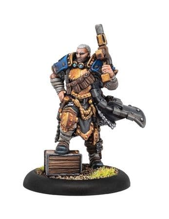 Trencher Commando Officer  Cygnar Command Attachment (resin/metal)