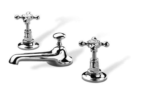Barber Wilson 6450, 3-hole basin mixer with pop-up waste