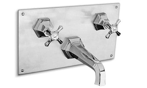 Barber Wilson MC3460 Concealed bath mixer, mounted on panel