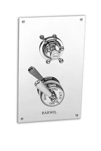 Barber Wilson PS53C1-CD Recessed thermostatic shower with flow valve