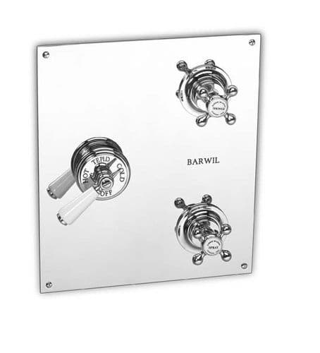 Barber Wilson PS53C2-CD Recessed shower mixer with shower & Spray valves