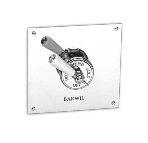 Barber Wilson PS53CSQ Recessed thermostatic shower mixer, Square plate