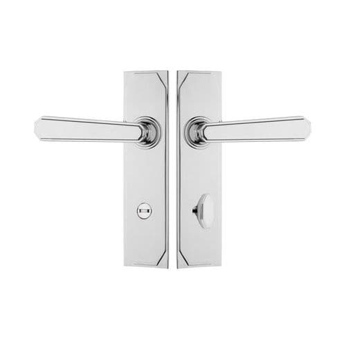 Pair of craftmaster levers on privacy back plates