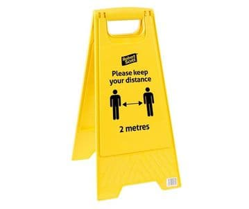 Social Distancing Safety Floor Sign