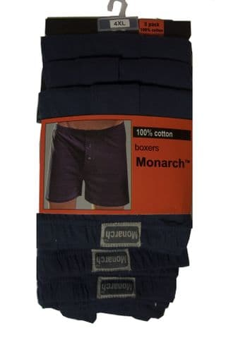 Monarch Three Pack Boxers Navy.
