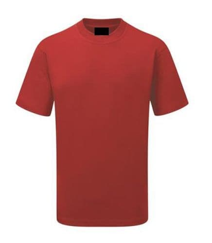 Back To Basics Work Wear 1005 Plain Poly/Cotton T-Shirt Red £7.99