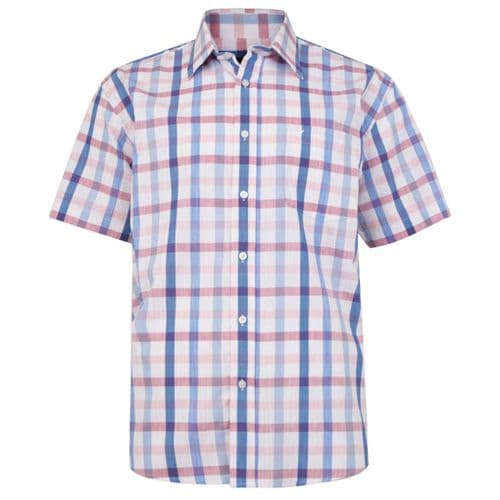Cotton Valley 14410 S/S Check Shirt Pink