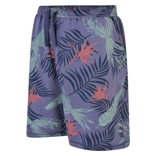 Espionage LW116 Printed Floral French Terry Cotton Shorts