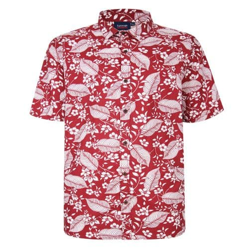 Espionage SH356 All Over Palm Print Red
