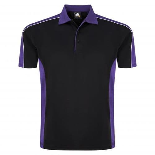 Sports 1198-10 Cut And Sewn Wicking Polo Black/Purple £19.99
