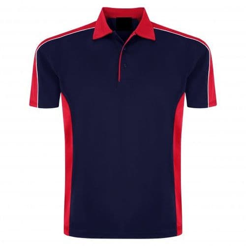Sports 1198-10 Cut And Sewn Wicking Polo Navy/Red £19.99