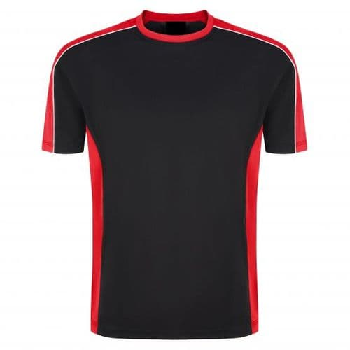 Sports Crew 1008-15 Wicking Tee Black/Red £13.99