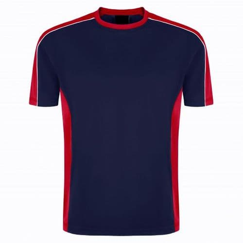 Sports Crew 1008-15 Wicking Tee Navy/Red £13.99