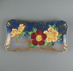 Royal Doulton Hand Painted Sandwich Tray Wild Rose D6227 - 28cm