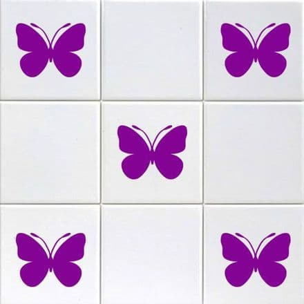 20 Mini Butterfly Stickers