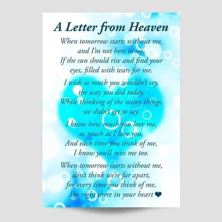 A Letter From Heaven Blue Poster