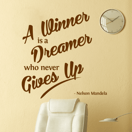 A Winner Is A Dreamer Wall Sticker