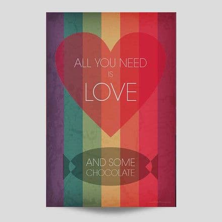 All You Need Is Chocolate Wall Art