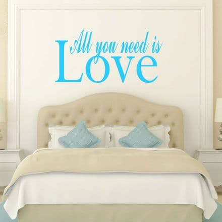 All You Need Is Love Wall Sticker