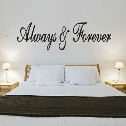 Always & Forever Love Wall Sticker