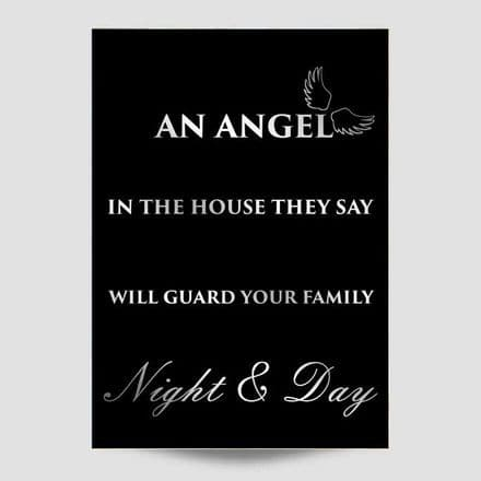 An Angel In The House  Black Wall Art