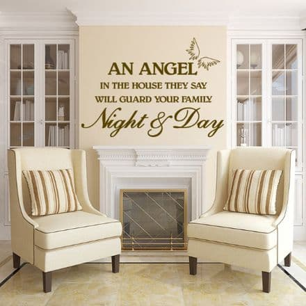 An Angel In The House Family Wall Sticker