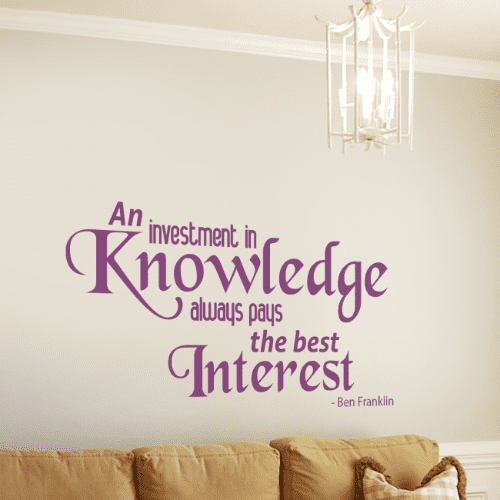 An Investment In Knowledge Wall Quote