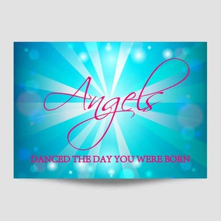 Angels Danced Religious Poster