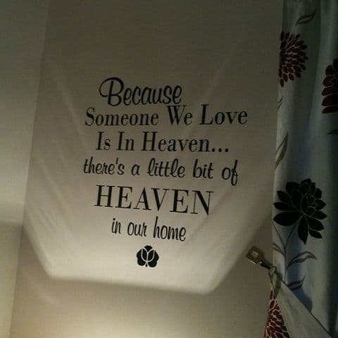 Because Someone We Love Wall Sticker