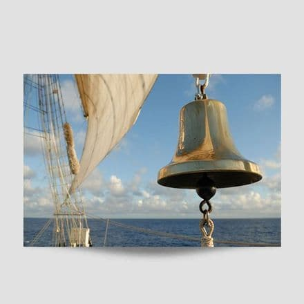 Bell On A Sailing Ship Poster
