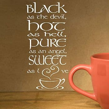 Black As The Devil Wall Quote