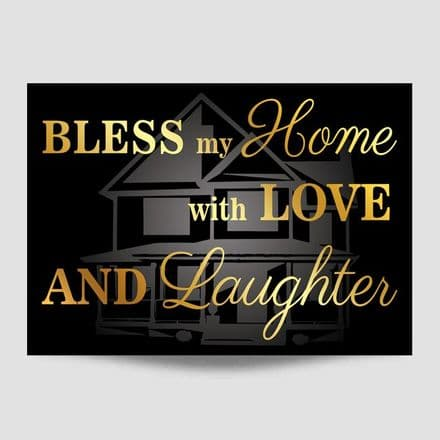 Bless My Home Black Poster