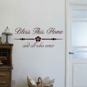 Bless This Home Wall Sticker