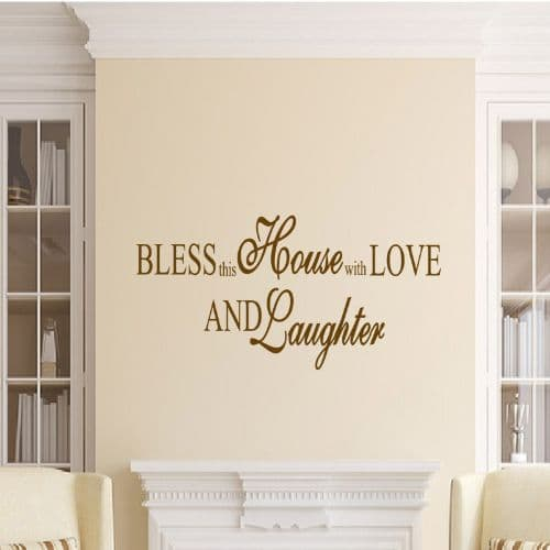 Bless This House Family Wall Sticker
