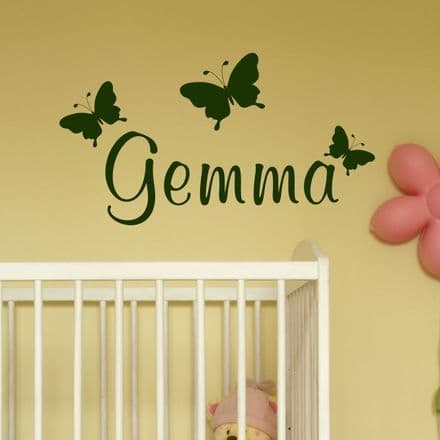 Butterfly Name Wall Stickers