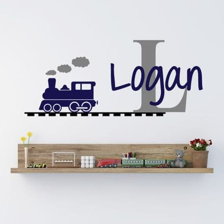 Capital Letter Name Train Sticker